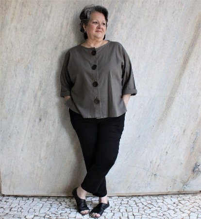 Casaco Gaia Marrom - Studio Lica Soares