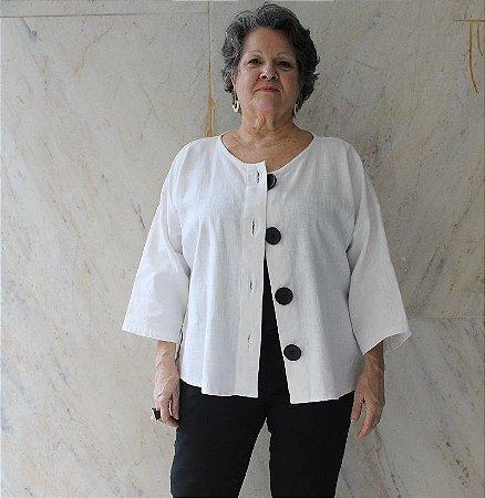 Casaco Gaia Off White - Studio Lica Soares