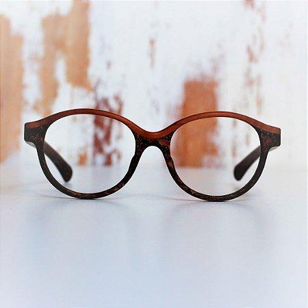 Armação para Óculos Modelo Voo Livre Pixoxó em Peroba Rosa Hayô
