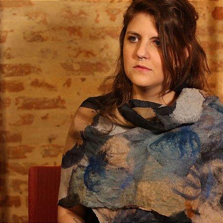 Lenço de Algodão Modelo Manchado Myriam Aguiar