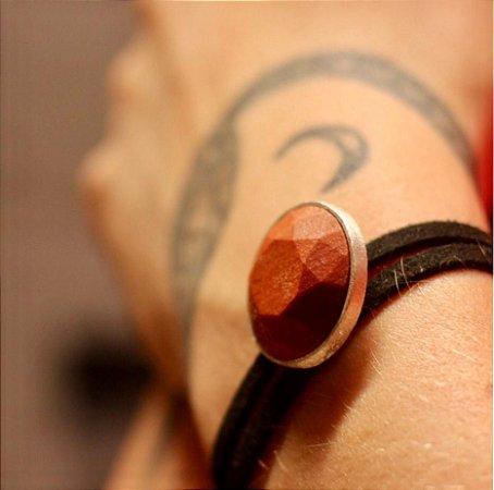 Pulseira Marte com Madeira Peroba Rosa - Mônica Bacci