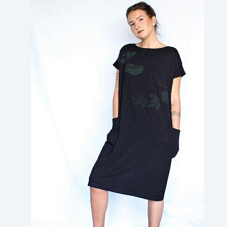 Vestido Marta Preto Curto - Estampa