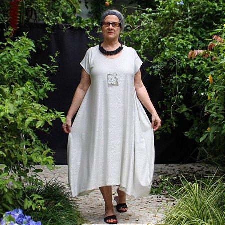 Vestido Bianco Prata Zona de Conforto