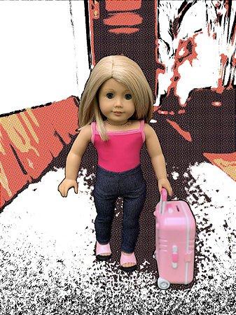 Mala para Boneca Americana Girl
