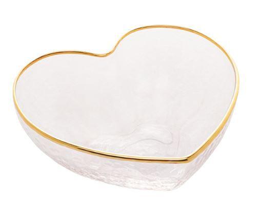 Bowl Coração Borda Dourada - P