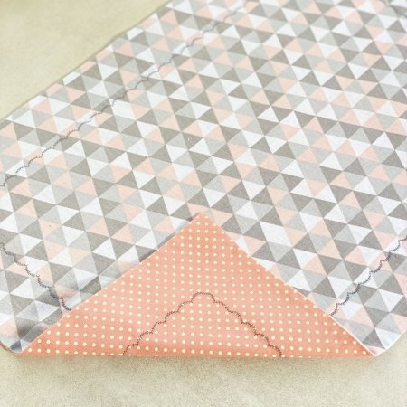 Lugar Americano Triângulos color e Poá Dupla Face
