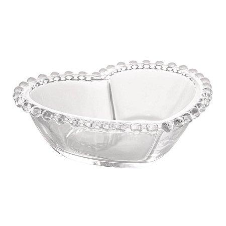 Bowl Cristal Coração Pearl - M