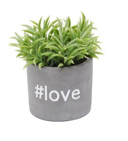 Cachepot Concreto Love