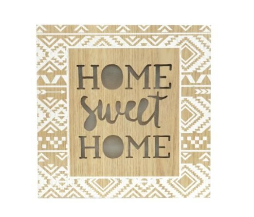 Tela Led Home Sweet Home