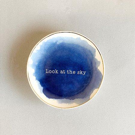 Mini Prato Cerâmica Look At The Sky