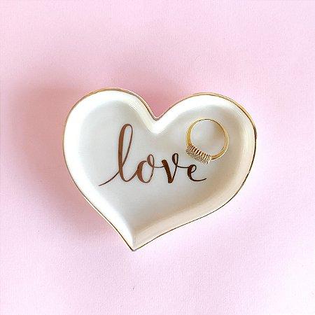 Mini Prato Cerâmica Love - Coração