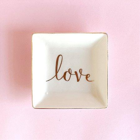 Mini Prato Cerâmica Love
