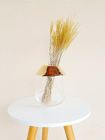 Vaso Vidro Dourado