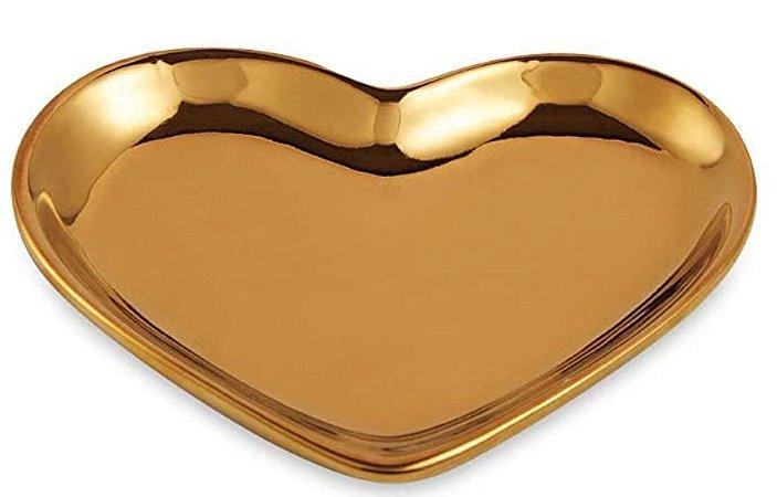 Mini Prato Coração Dourado