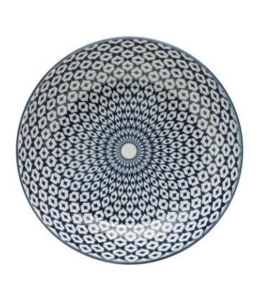 Prato Fundo Porcelana Geométrico