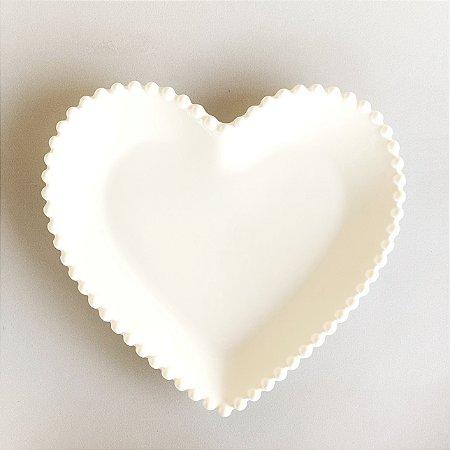 Prato Coração Bolinha - G