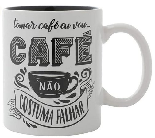 Caneca Café Não Falha - 320 ml