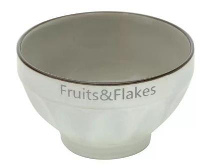 Bowl Fruits e Flakes - Cinza