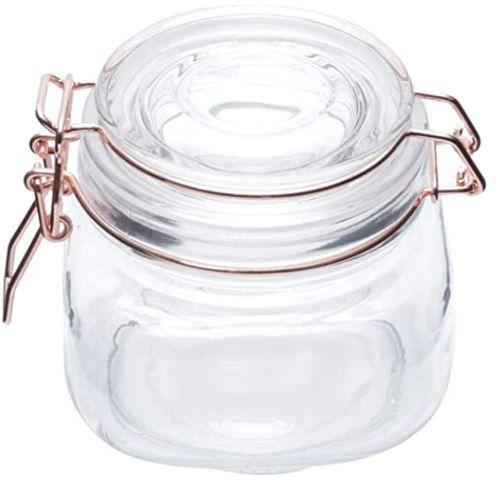 Pote de Vidro Hermético Transparente - P