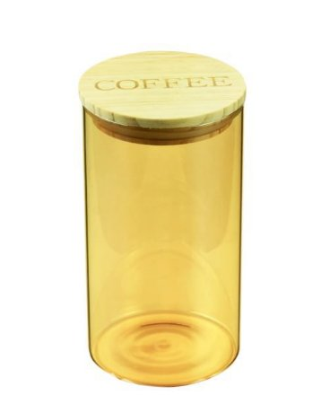 Pote de Vidro Coffee Clear Âmbar