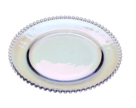 Prato Sobremesa Cristal Pearl Furta Cor - Wolff
