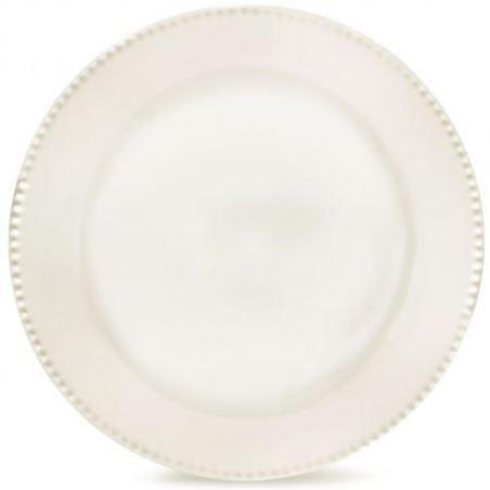 Prato Raso Perla Branco - 24 cm
