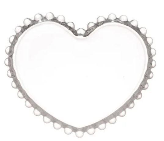Prato de Cristal - Coração Pearl