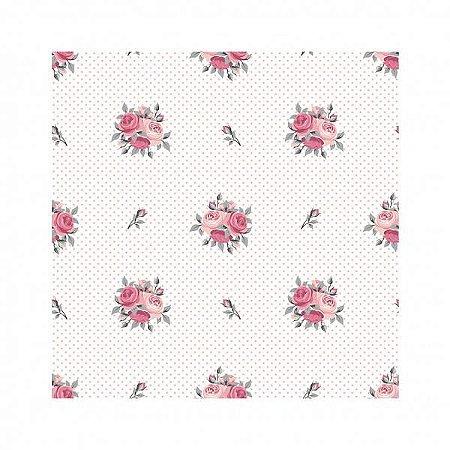 Guardanapo Home Mini Rosas Rosê 40X40 cm