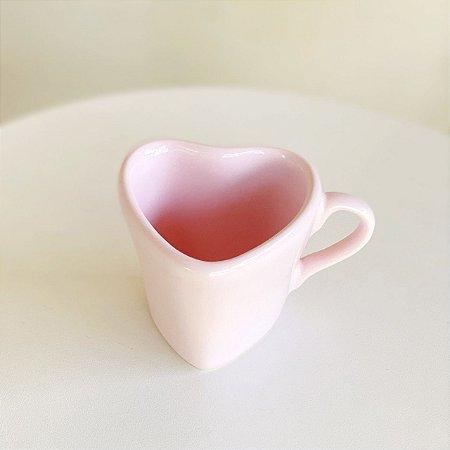 Xicara Coração - Rosa - 120 ml