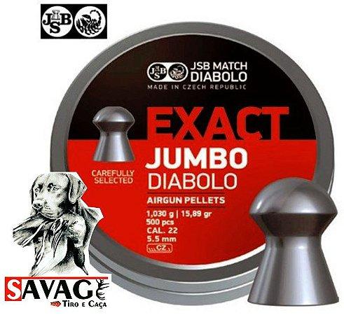 Chumbinho 5.5 + Alvos Brinde Jsb Exact Jumbo 15,89gr 500pcs