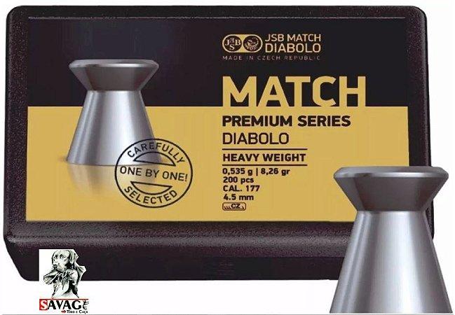 Chumbinho 4.5 Jsb Match Premium 8,26gr + Alvos 12 Alvos de Brinde  200pcs