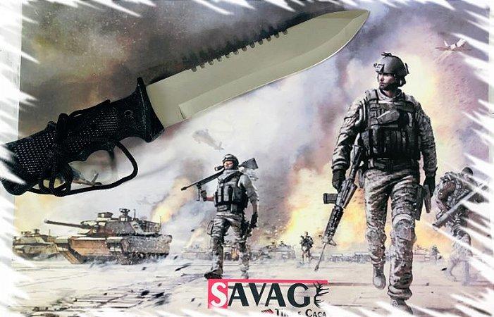 Facão Tático Sobrevivência Militar - Acampamento - Inclui Kit Sobrevivência