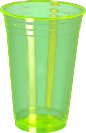COPO 300ML BALADA NEON VERDE - PC X 25