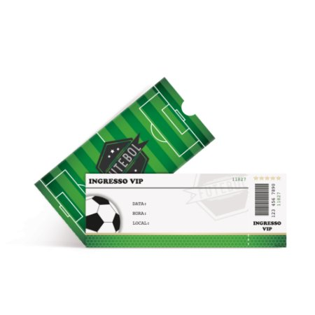 CONVITE C/8 INGRESSO FUTEBOL  - PC X 1