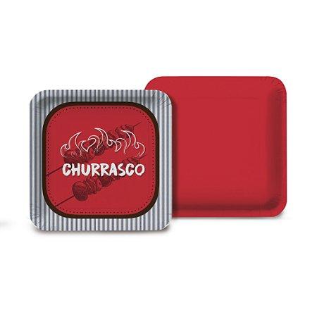 PRATO QUADRADO C/8 CHURRASCO - PC X 1