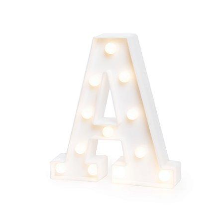LUMINOSO C/LED BRANCO LETRA A - UN X 1