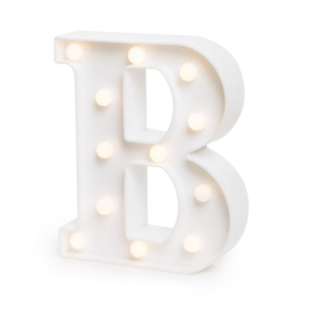 LUMINOSO C/LED BRANCO LETRA B - UN X 1