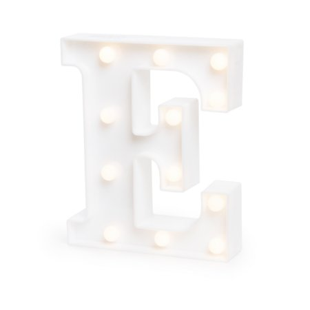 LUMINOSO C/LED BRANCO LETRA E - UN X 1
