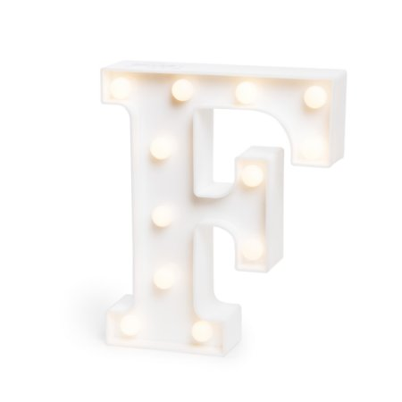 LUMINOSO C/LED BRANCO LETRA F - UN X 1