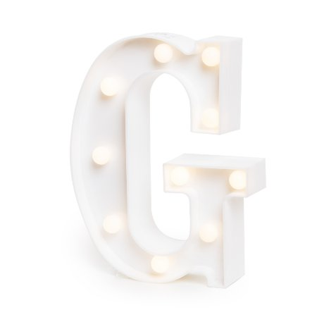 LUMINOSO C/LED BRANCO LETRA G - UN X 1