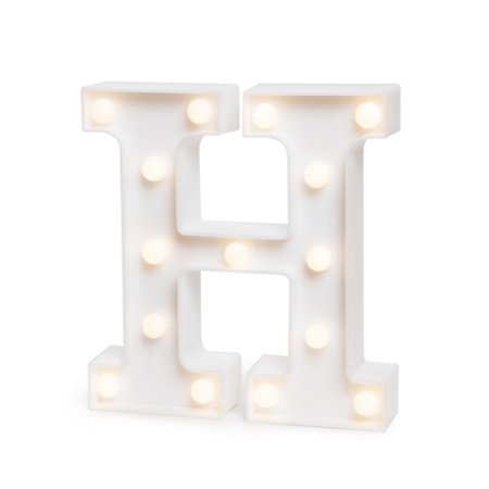 LUMINOSO C/LED BRANCO LETRA H - UN X 1