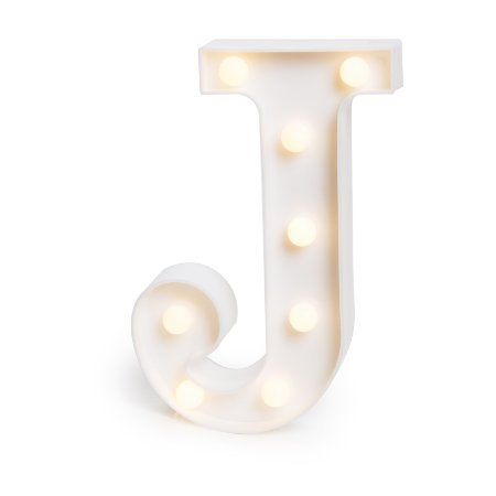 LUMINOSO C/LED BRANCO LETRA J - UN X 1