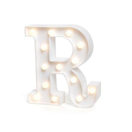 LUMINOSO C/LED BRANCO LETRA R - UN X 1