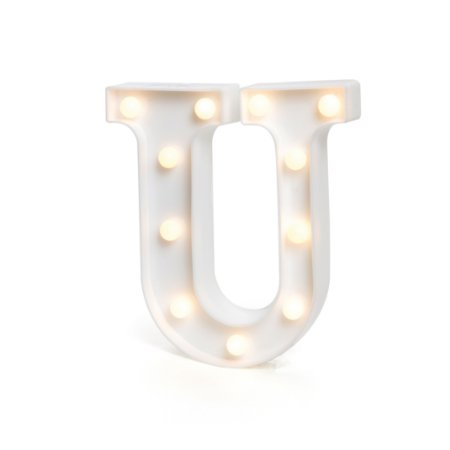 LUMINOSO C/LED BRANCO LETRA U - UN X 1