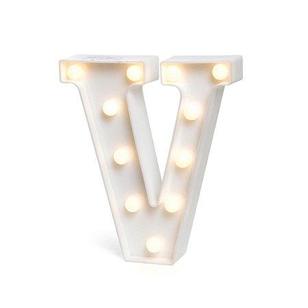 LUMINOSO C/LED BRANCO LETRA V - UN X 1