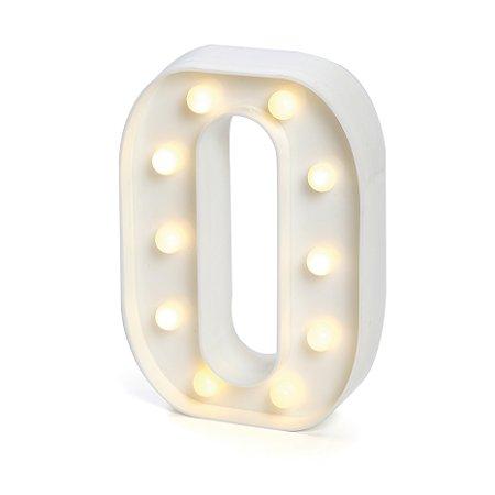 LUMINOSO C/LED BRANCO NUMERO 0 - UN X 1
