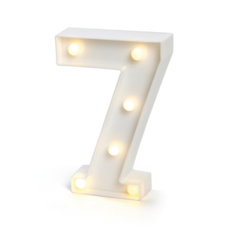 LUMINOSO C/LED BRANCO NUMERO 7 - UN X 1