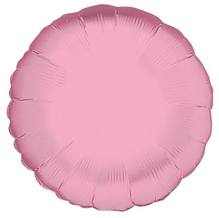 BALAO MET REDONDO 18 45CM PINK PASTEL - UN X 1