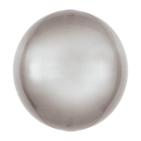 BALAO BOLHA METAL 18 45CM PRATA - UN X 1