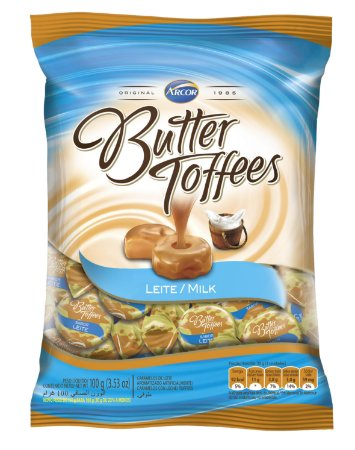 B 600G BUTTER TOFFES LEITE - PC X 1